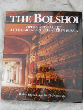Bolshoi Russian ballet and opera, '79 English translation book w/ photos