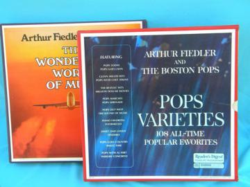 Boston Pops/Fiedler  LP records  Wonderful World of Music Pops Varieties