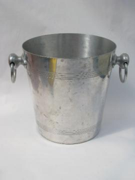 Bourgeat - France, retro vintage aluminum ice bucket
