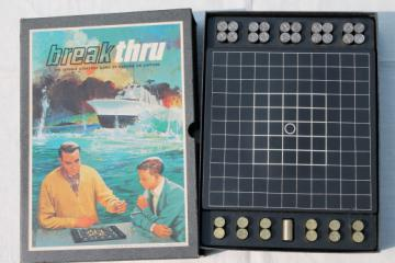 Breakthru 1960s vintage strategy board game, 3M bookcase game Break thru