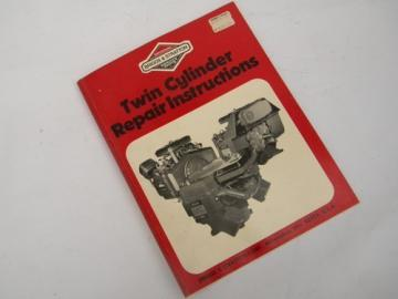 Briggs&Stratton twin cylinder small engine repair instruction manual 1986