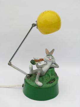 Bugs Bunny playing it cool, retro vintage desk lamp
