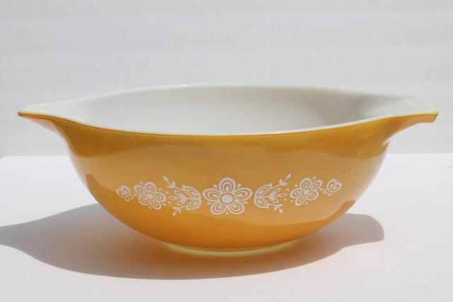 butterfly gold Pyrex mixing bowls lot, instant collection of vintage ...