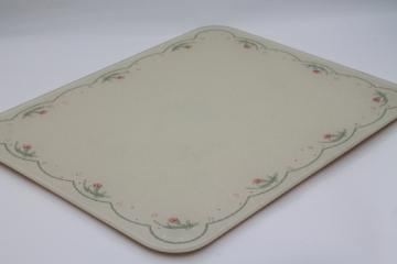 Calico Rose Corelle Corning ware glass counter saver, countertop trivet board