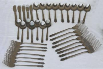 Cambridge Japan flatware, estate lot mod vintage stainless steel silverware