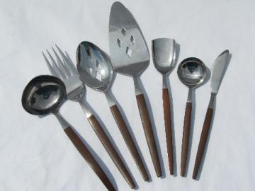 Canoe Muffin Ekco Eterna stainless, danish mod flatware lot serving pcs