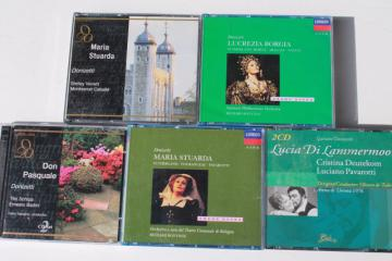 classical opera CDs collection, lot Donizetti bel canto complete operas