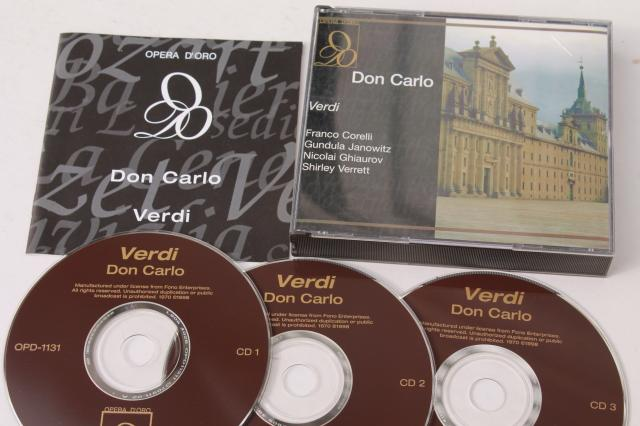 classical opera CDs collection, lot Verdi complete operas