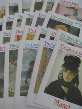 Complete 25 book set The Great Artists, folio size frameable art prints