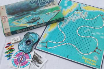 Complete 70s vintage Bermuda Triangle Milton Bradley board game