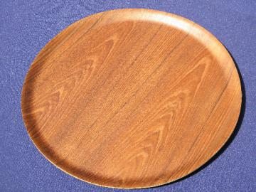 Danish modern bentwood tray, midcentury vintage cocktail serving tray