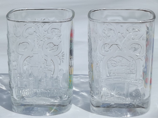 Disney Mickey Mouse Collectible Mcdonald S Glasses From
