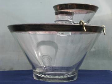 Dorothy Thorpe mid-century modern vintage wide silver band chip and dip bowl
