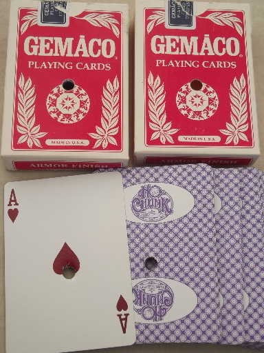 Drilled casino playing cards lot, Ho-Chunk etc.