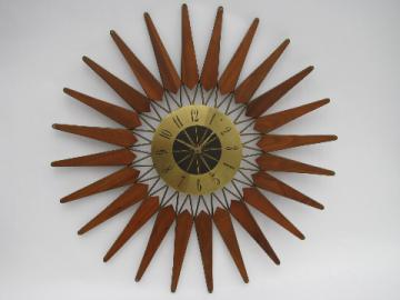 Eames era retro mod vintage atomic starburst wall clock