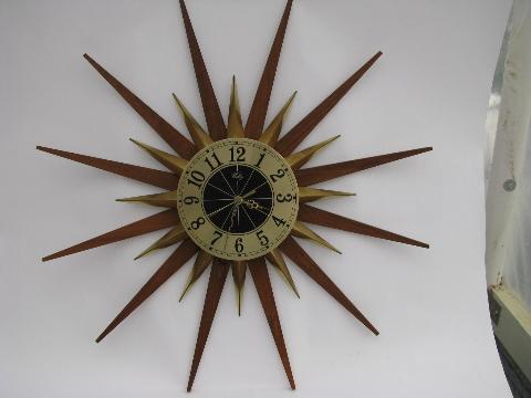 eames era retro mod vintage atomic starburst wall clock