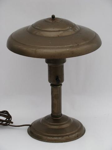 eames era vintage industrial office desk lamp metal helmet shade. Black Bedroom Furniture Sets. Home Design Ideas