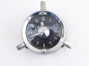 Early 1950s Jaeger center mount auto/car clock for vintage hotrod GM/Chevy/Pontiac etc