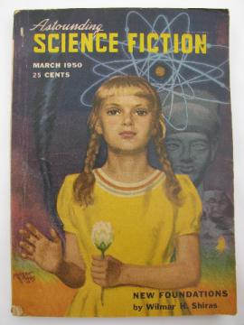 Early 1950s pulp sci-fi magazine Astounding Science Fiction, March 1950