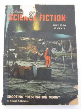 Early 1950s pulp sci-fi magazine Astounding Science Fiction, Robert Heinlein