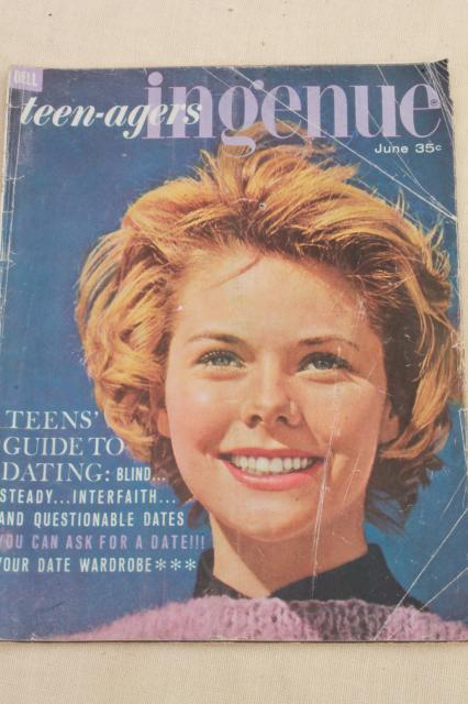 Early 60s Vintage Teen Age Girl Fashion Magazines Lot