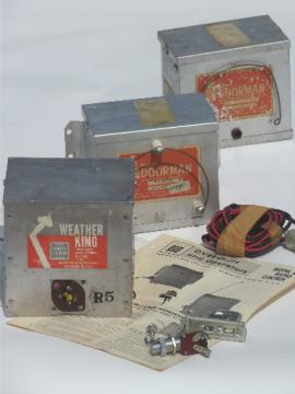 Early radio control garage door controls,Barbar-Colman Doorman units for parts
