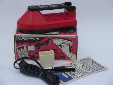 Easy Iron as seen on TV retro  plastic clothes iron in original box