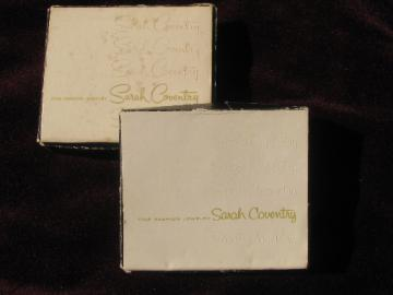Empty gift boxes from Sarah Coventry jewelry, 70s vintage
