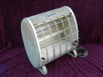 EverHot Ray Vector electric space heater 1950s streamlined vintage