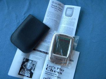 Excalibur Touch Chess model 404 hand held game w/case and manual unused