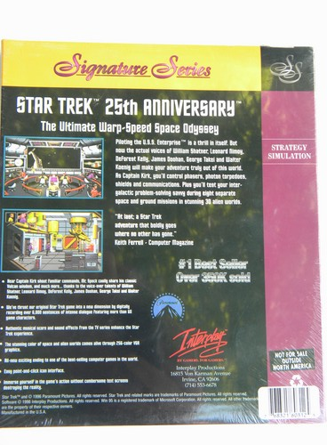 Factory sealed Star Trek 25th anniversary strategy simulation PC game CD-ROM