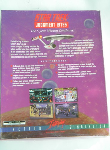 Factory sealed Star Trek Judgment Rites action simulation PC game CD-ROM