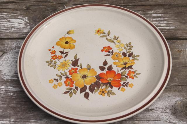 Fall Flowers Vintage Dinnerware Set Hearthside Stoneware
