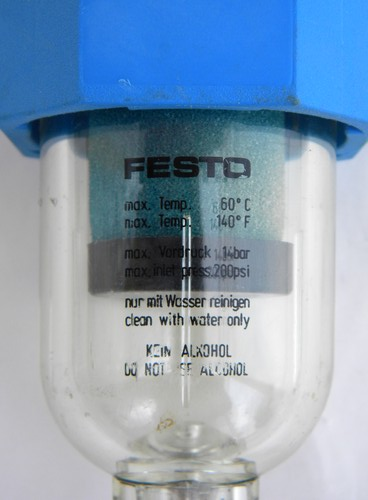 Festo LFM-1/4-S-B line filter sediment bowl for compressed air