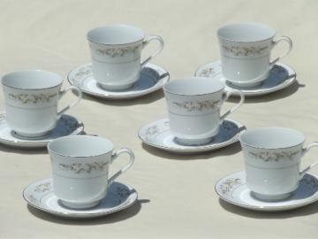 Fine China Japan for International Silver, 326 Springtime cups & saucers