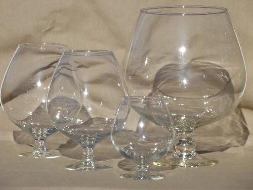 Brandy Glass Fish Bowl Fish Bowl Glass Jars / Vases