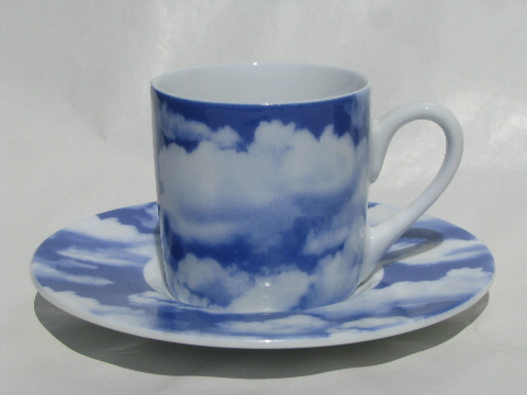 Fluffy White Clouds On Blue Sky Germany China Espresso