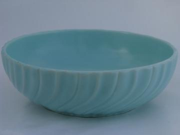 Franciscan aqua blue Coronado serving bowl, vintage Catalina art pottery