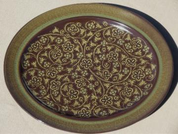 Franciscan Madeira pottery platter, retro danish modern vintage