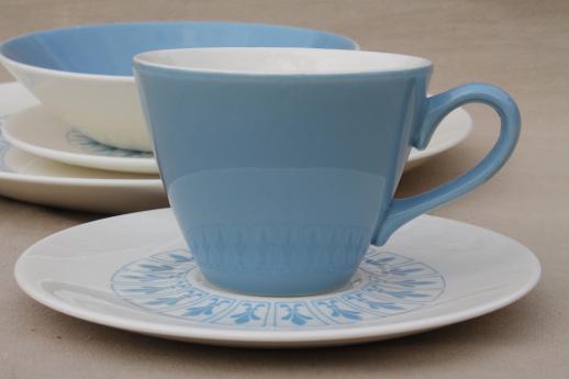 French Fleur De Lis Richelieu Pattern Set Of Dishes