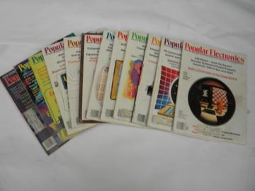 Full year of 1978 Popular Electronics magazines w/psychedelic graphics