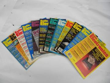 Full year of 1987 Radio-Electronics magazines w/robotics projects