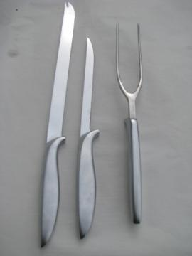Gerber carving knives & fork set, snickersnee knife, etc.