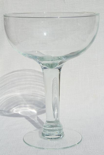 giant martini glass, oversized cocktail glass for punch bowl or display