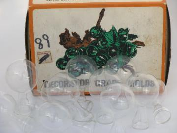 Glass bubble vial vase shaped molds for lucite casting, retro grapes!