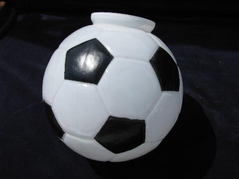Glass Globe Shade For Ceiling Fixture Or Fan Light Soccer Ball White Amp Black