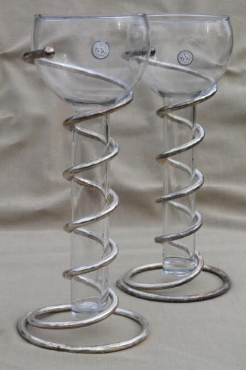Godinger Silver Art Spiral Metal Vases Or Candle Holders W