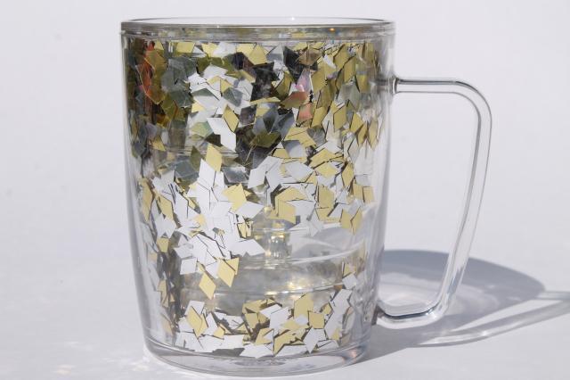 Gold Amp Silver Glitter Flake Confetti Tervis Insulated