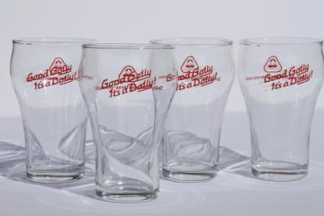 Good Golly, it's a Dolly! vintage Dolly Madison bakery advertising glasses