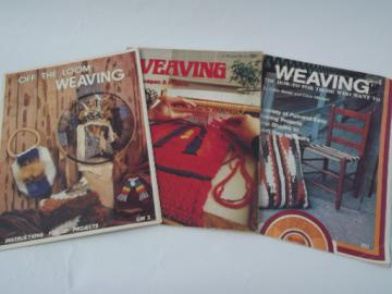 Groovy shag weaving instructions, retro hippie vintage craft books lot